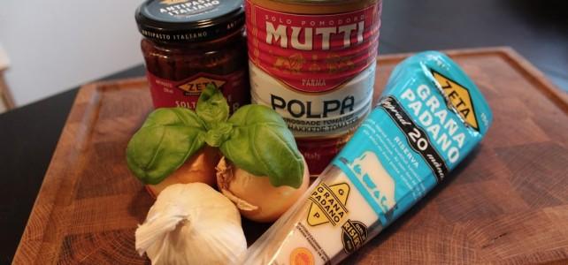 Grillade älgköttbullar med italiensk twist